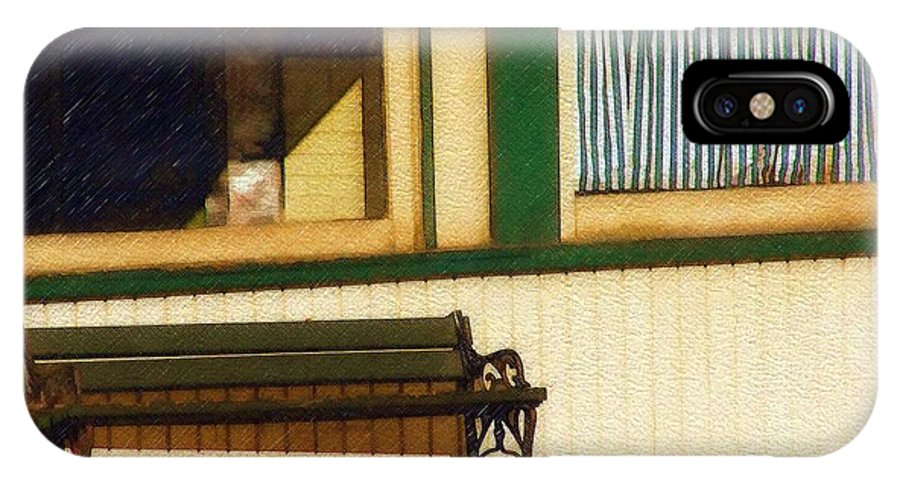 Bench IPhone Case featuring the photograph Come Sit A Spell by Sandy MacGowan