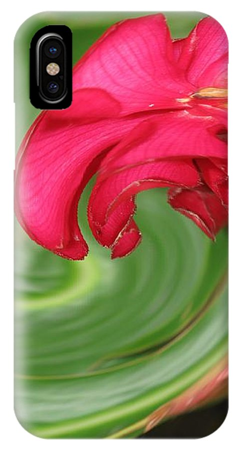 Flower IPhone X Case featuring the photograph Come To Me by Ian MacDonald