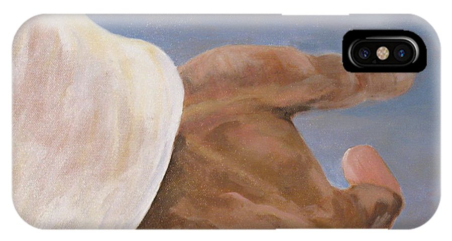 Religious IPhone X Case featuring the painting Come Unto Me by Donna Steward
