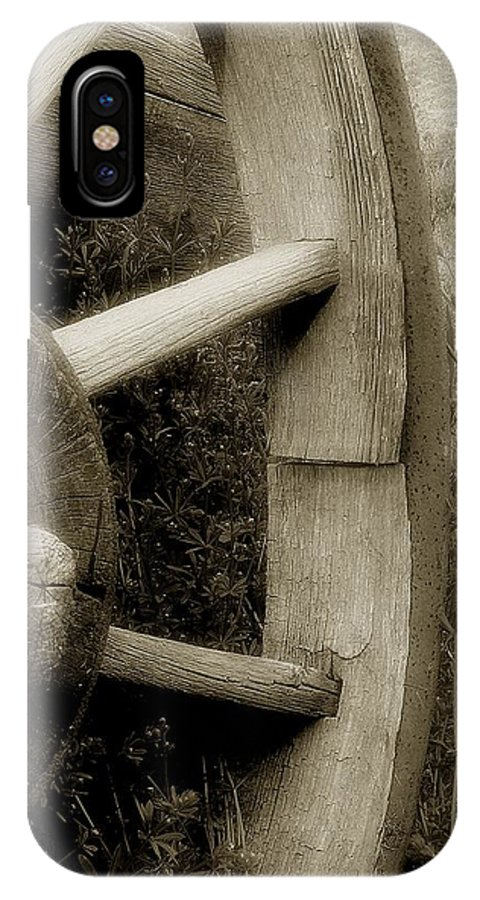 Antique IPhone X Case featuring the photograph Coming Apart At The Seams by RC DeWinter