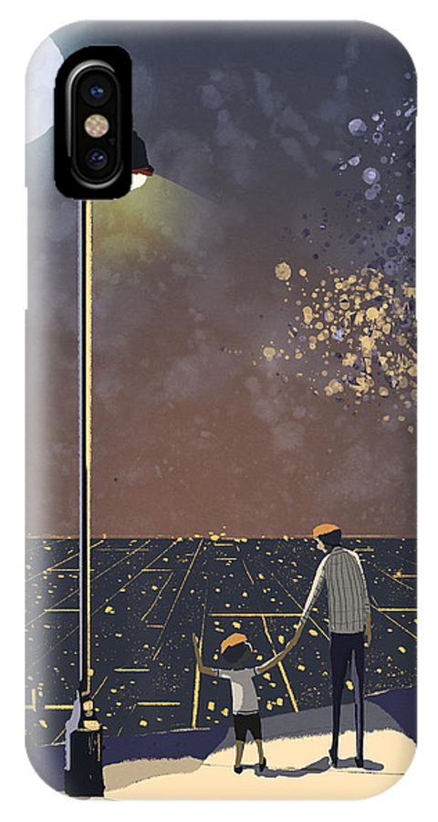 Home IPhone X / XS Case featuring the painting Coming Back Home by Renan Lima
