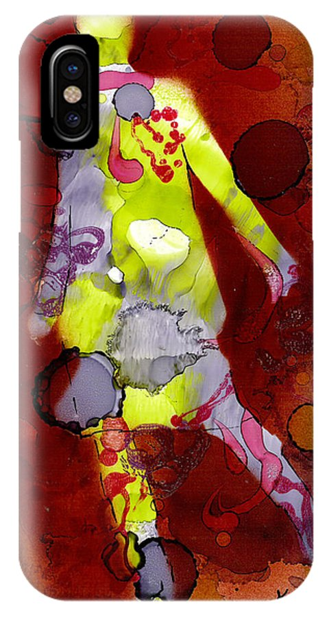Woman Girl Female Impressionist Empowerment IPhone X Case featuring the mixed media Coming Of Age by Susan Kubes