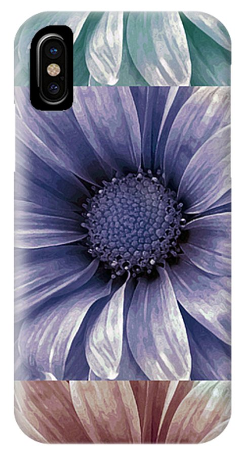 Flower IPhone X Case featuring the photograph Coming Up Daisies by Angelina Vick