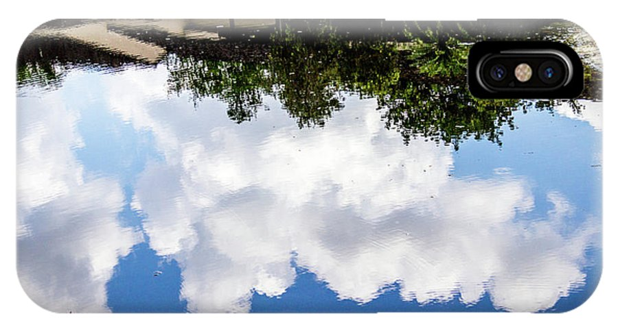 Background IPhone X / XS Case featuring the photograph Community Reflections by Gregory Gendusa