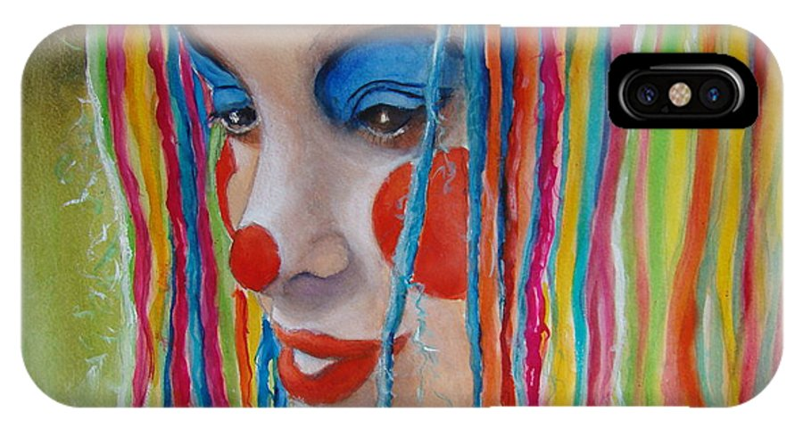 Clowns IPhone Case featuring the painting Complementary by Myra Evans
