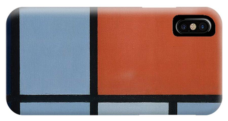 Piet Mondrian Composition IPhone X Case featuring the painting Composition by Piet Mondrian