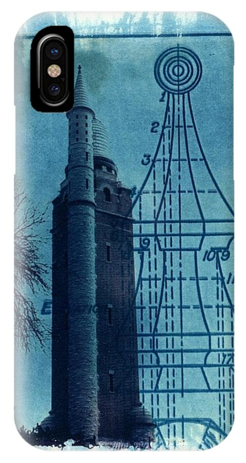 Alternative Process Photography IPhone X Case featuring the photograph Compton Blueprint by Jane Linders