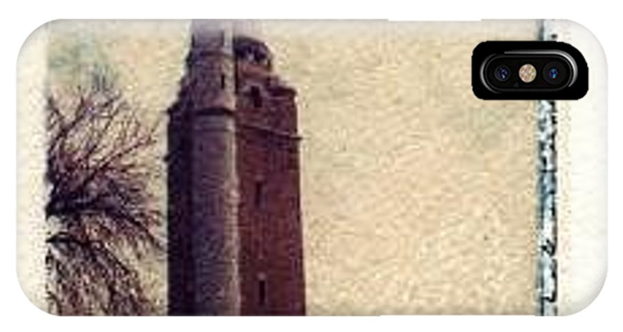 Polaroid Transfer IPhone X / XS Case featuring the photograph Compton Water Tower by Jane Linders