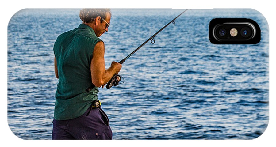 Fishing IPhone X / XS Case featuring the photograph Concentration by Richard Goldman