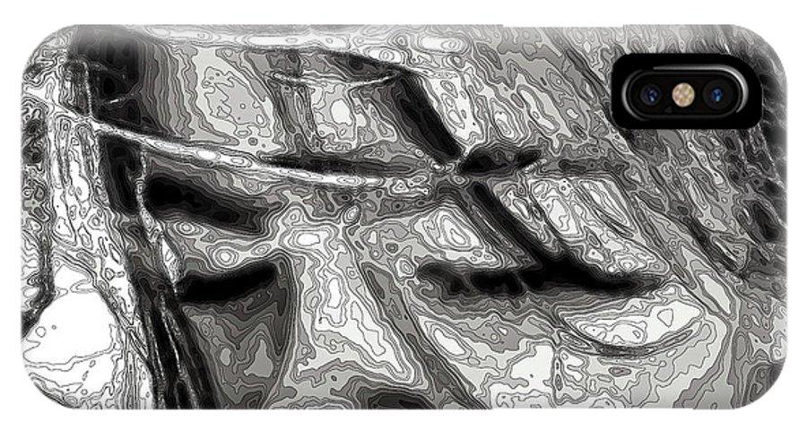 Digital Art IPhone X Case featuring the digital art Conceptual Portrait by Beto Machado