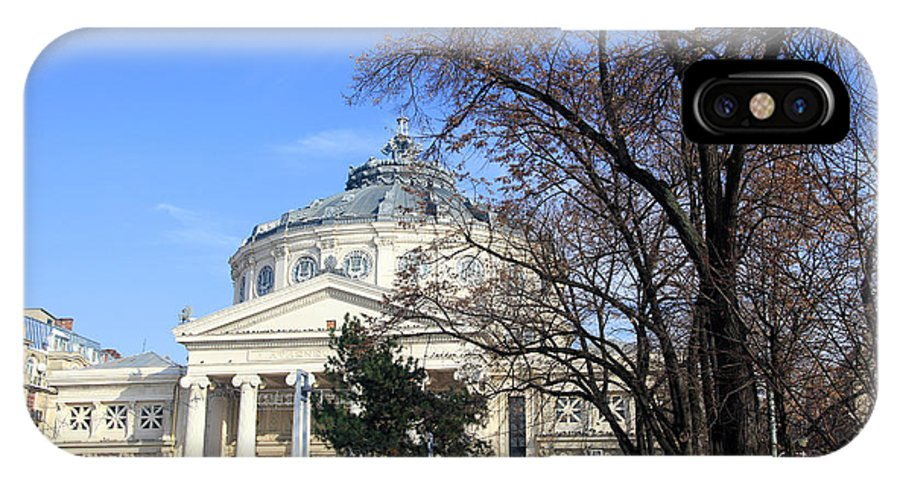 Bucharest IPhone X Case featuring the photograph concert hall in Bucharest, Romania by Vladi Alon