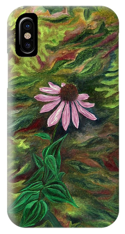 Coneflower IPhone X Case featuring the painting Coneflower by FT McKinstry