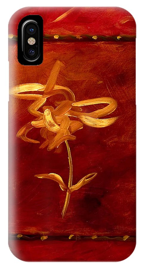 Abstract IPhone X Case featuring the painting Confidence by Shannon Grissom