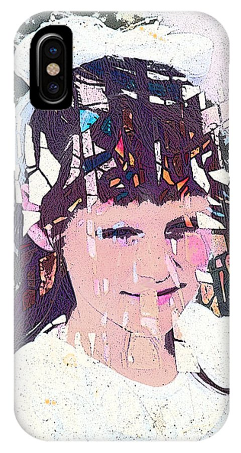 Girl IPhone Case featuring the digital art Confirmation by Arline Wagner
