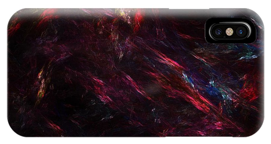 Abstract Digital Painting IPhone X Case featuring the digital art Conflict by David Lane
