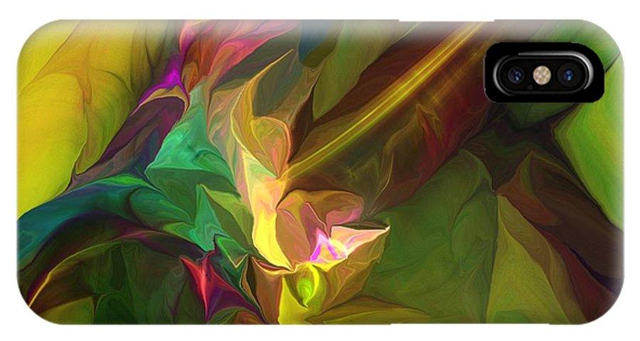 Fine Art IPhone X Case featuring the digital art Confluence by David Lane