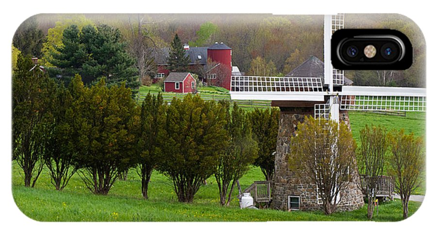 Windmill IPhone X Case featuring the photograph Connecticut Windmill. by David Freuthal