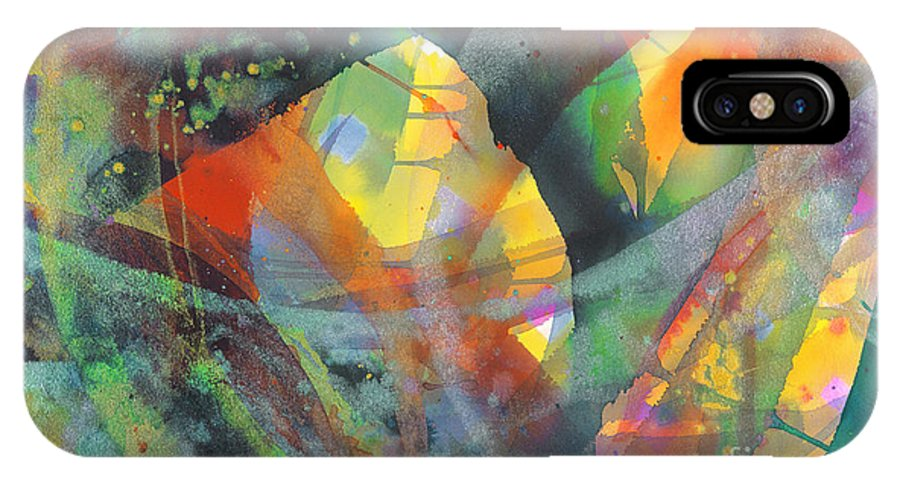 Abstract IPhone Case featuring the painting Connections by Lucy Arnold