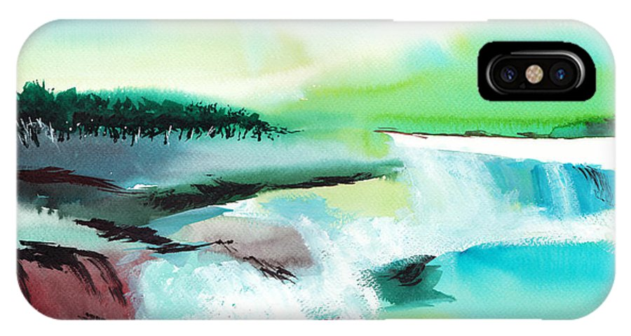 Nature IPhone X Case featuring the painting Constructing Reality 1 by Anil Nene