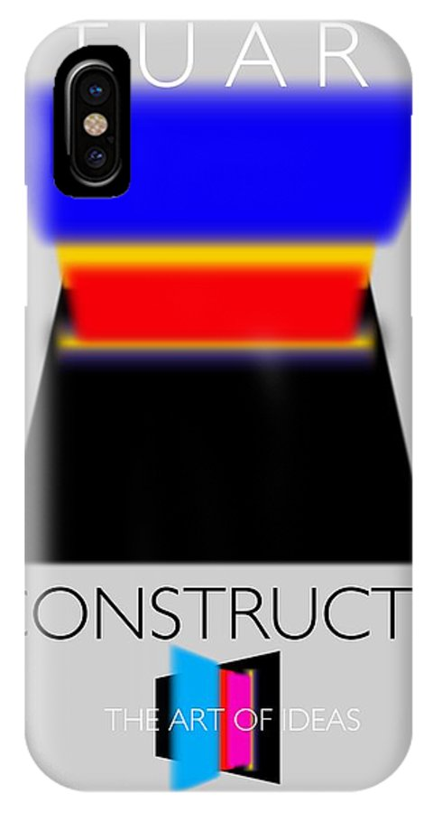 De Stijl IPhone X Case featuring the painting Constuctivist Poster by Charles Stuart