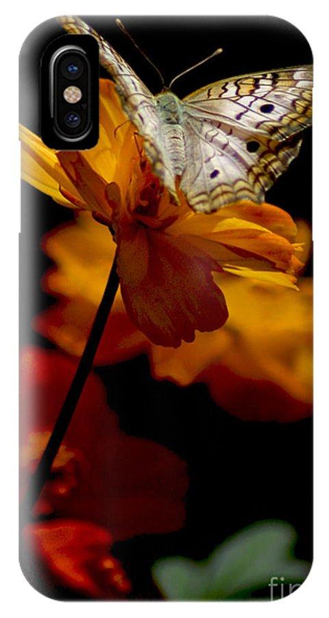 Butterflies IPhone X Case featuring the photograph Contemplation by Mark Kryzaniak