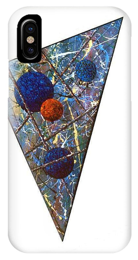 Abstract IPhone X Case featuring the painting Continuum 3 by Micah Guenther