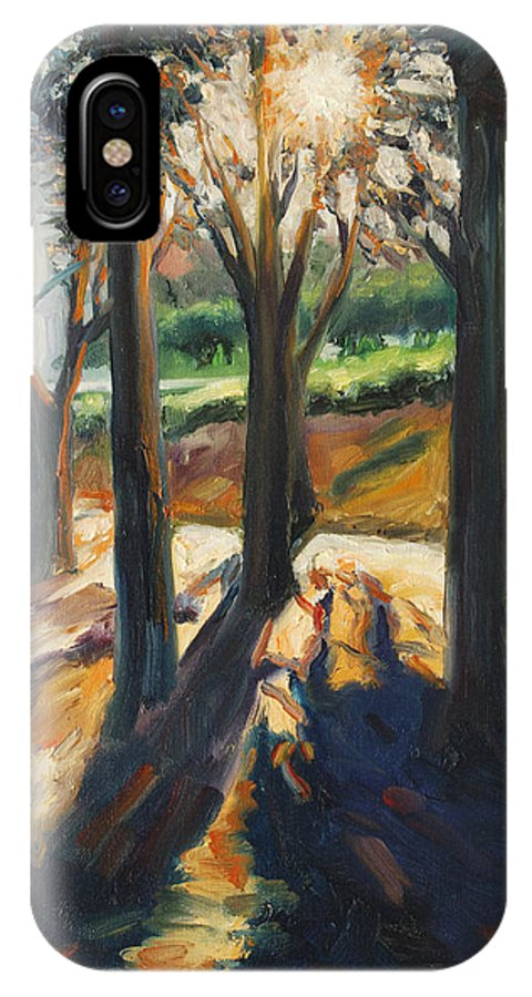 Trees IPhone X Case featuring the painting Contrast by Rick Nederlof
