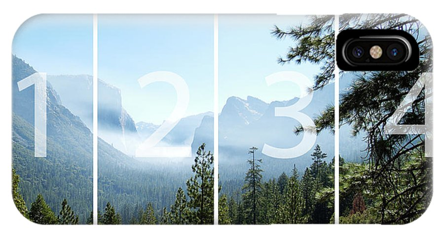 El Capitan IPhone Case featuring the digital art Controlled Burn Of Yosemite Panoramic Map by Michael Bessler