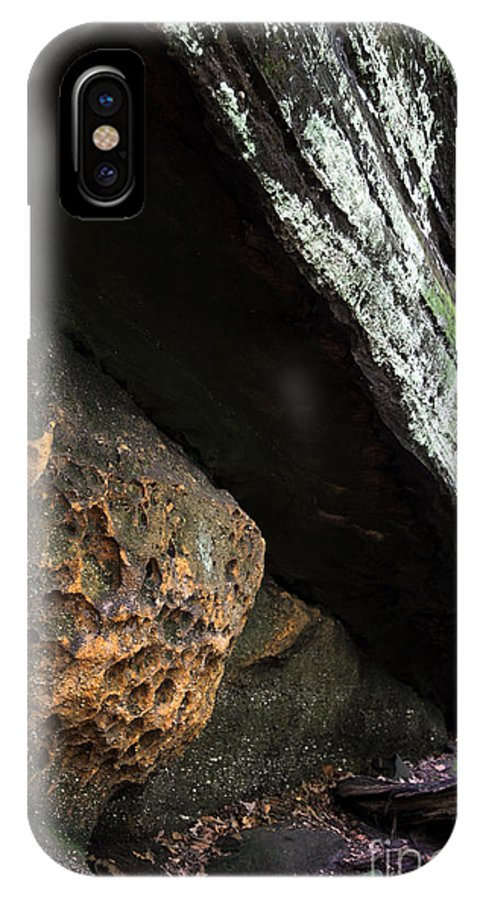 Rocks IPhone X Case featuring the photograph Convergence by Amanda Barcon