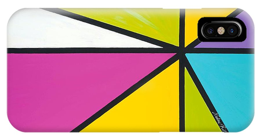 Lines IPhone X Case featuring the painting Convergence by Nadine Rippelmeyer