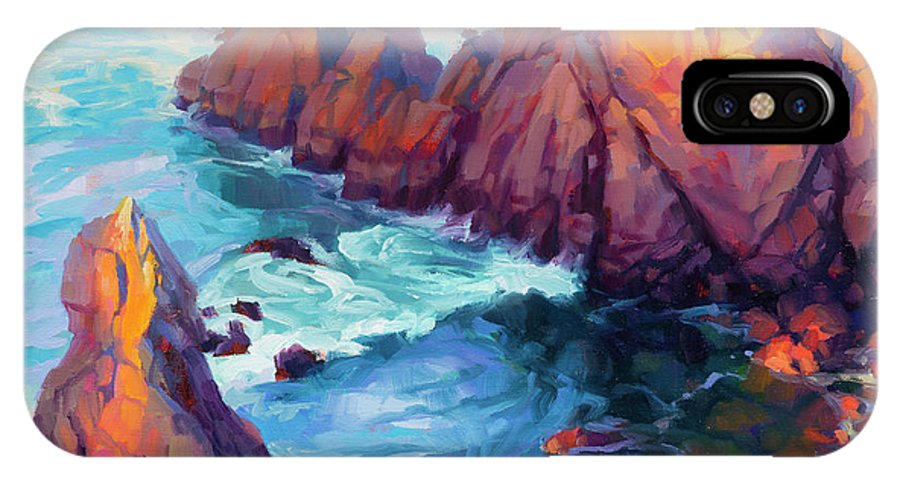 Ocean IPhone X Case featuring the painting Convergence by Steve Henderson