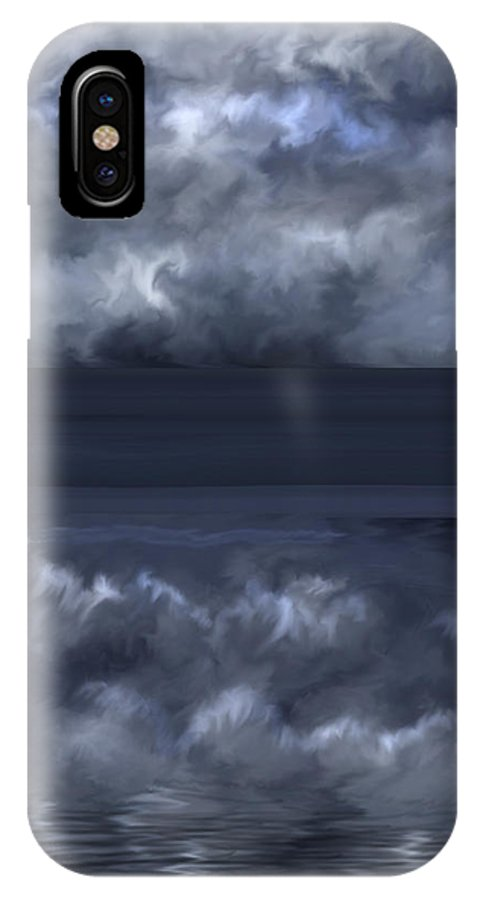 Seascape IPhone X Case featuring the painting Convergence Zone by Anne Norskog