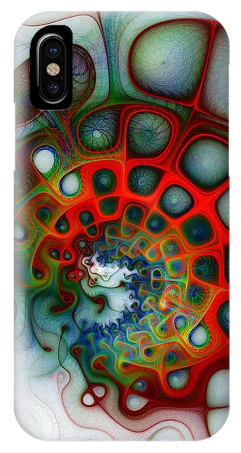 Digital Art IPhone X Case featuring the digital art Convolutions by Amanda Moore