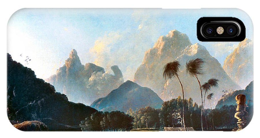 1773 IPhone X Case featuring the painting Cook: Tahiti, 1773 by Granger