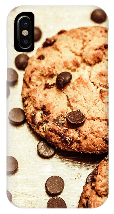 Cookie IPhone X Case featuring the photograph Cookies With Chocolare Chips by Jorgo Photography - Wall Art Gallery
