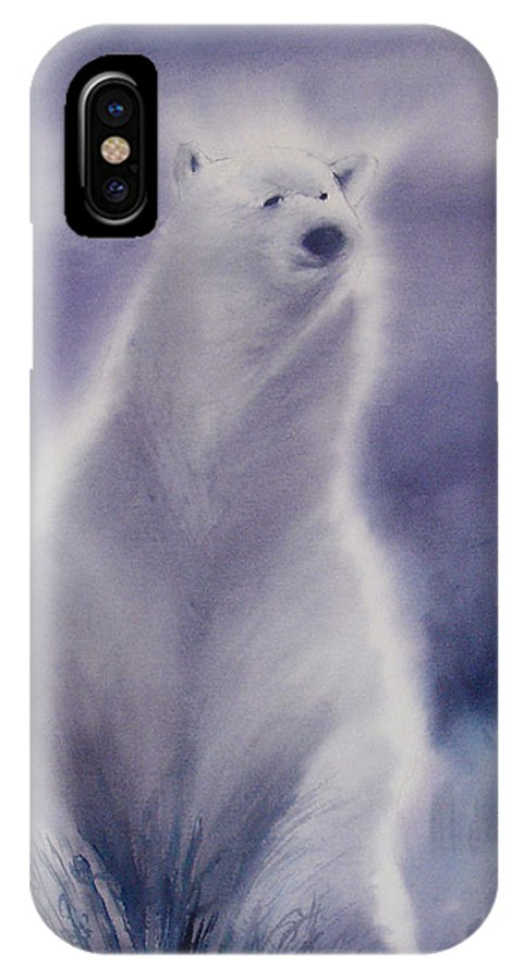 Bear IPhone X Case featuring the painting Cool Bear by Allison Ashton