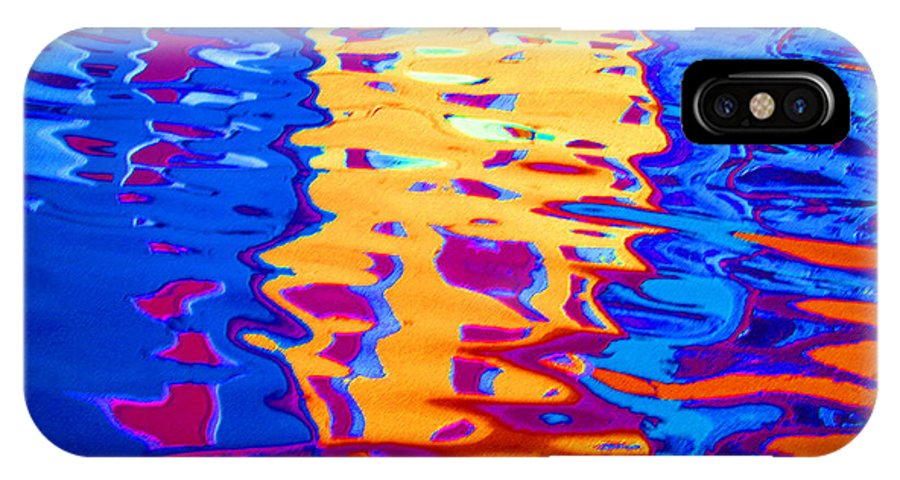 Abstract IPhone X Case featuring the pastel Cool Meets Warm by Donna Corless