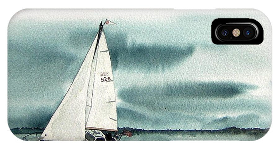 Sailing IPhone Case featuring the painting Cool Sail by Gale Cochran-Smith