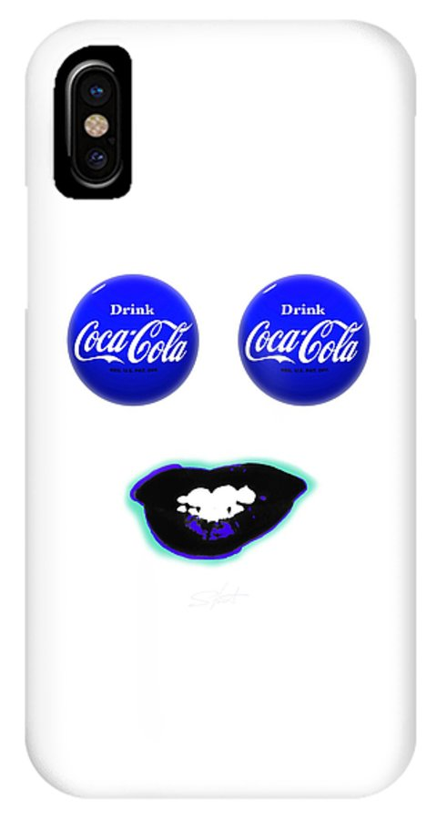 Andy Warhol IPhone X Case featuring the digital art Cool Smile by Charles Stuart