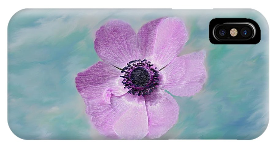 Flowers Floral Macro Nature Gardens Pink Purple Blue Green White Petals Spring Flowers IPhone X Case featuring the photograph Cool Spring by Linda Sannuti