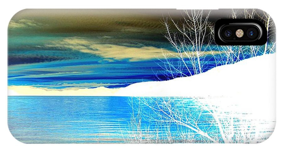 Winter IPhone X Case featuring the digital art Cool Waters by Will Borden