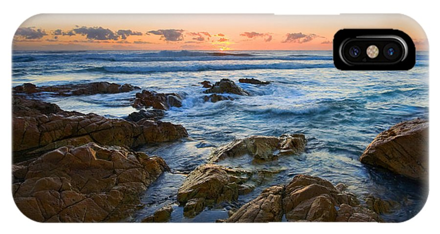 Seascape IPhone X Case featuring the photograph Coolum Dawn by Mike Dawson