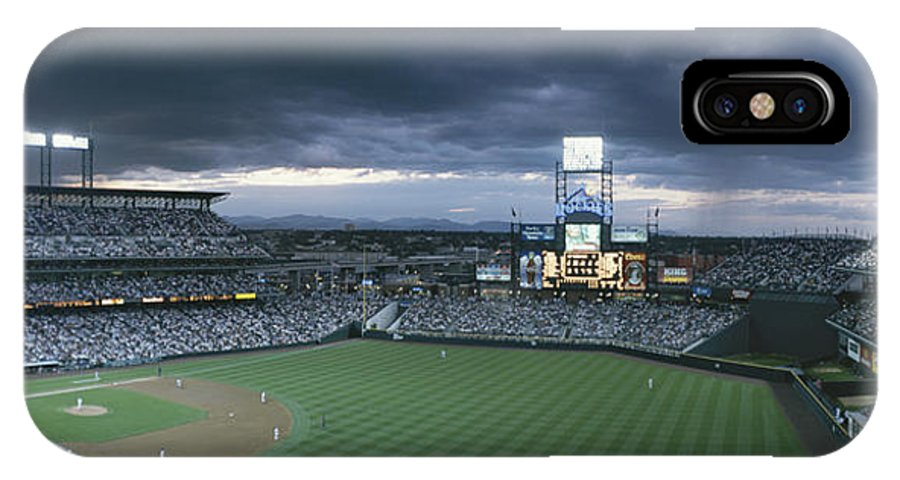 North America IPhone X / XS Case featuring the photograph Coors Field, Denver, Colorado by Michael S. Lewis