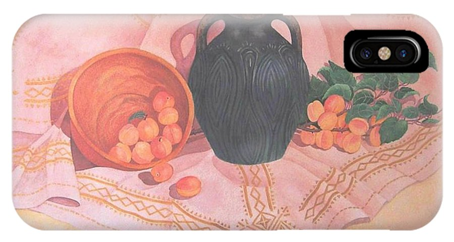 Realism IPhone X Case featuring the painting Copper Bronze And Apricots by Janet Summers-Tembeli