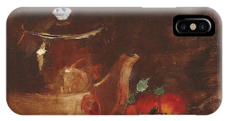 Kitchen IPhone Case featuring the painting Copper Kettle by Barbara Andolsek