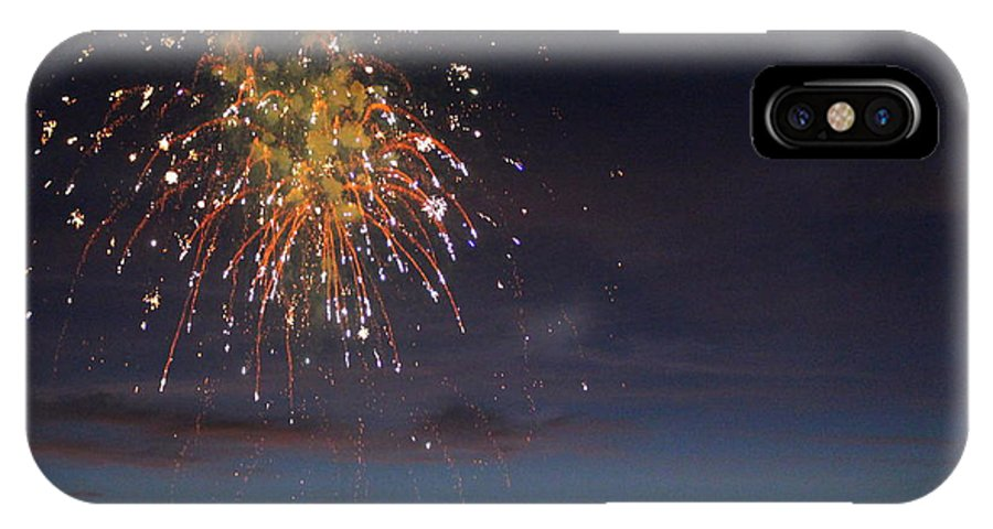 Fireworks IPhone X Case featuring the photograph Copper Splash by Mina Thompson