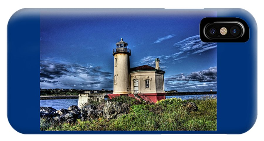 Coquille River Lighthouse IPhone X Case featuring the photograph Coquille River Lighthouse by Thom Zehrfeld