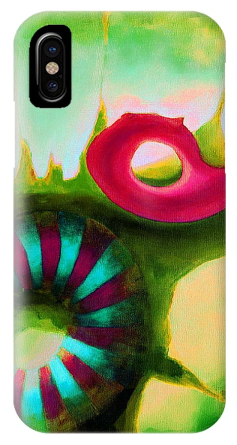 Armenian IPhone X Case featuring the painting Coral Cavern 1.1 by Giro Tavitian