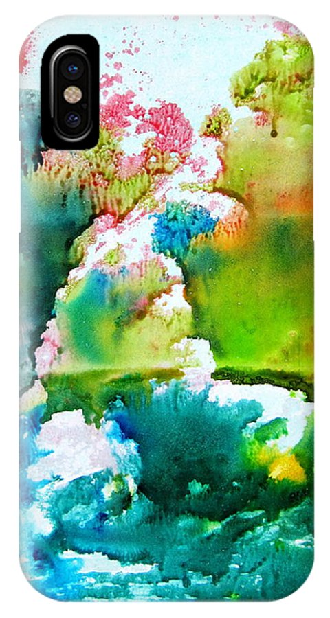 Corals Under The Water IPhone X Case featuring the painting Corals by Petra Olsakova
