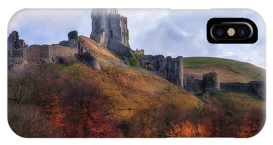 Corfe Castle IPhone X Case featuring the photograph Corfe Castle - England by Joana Kruse